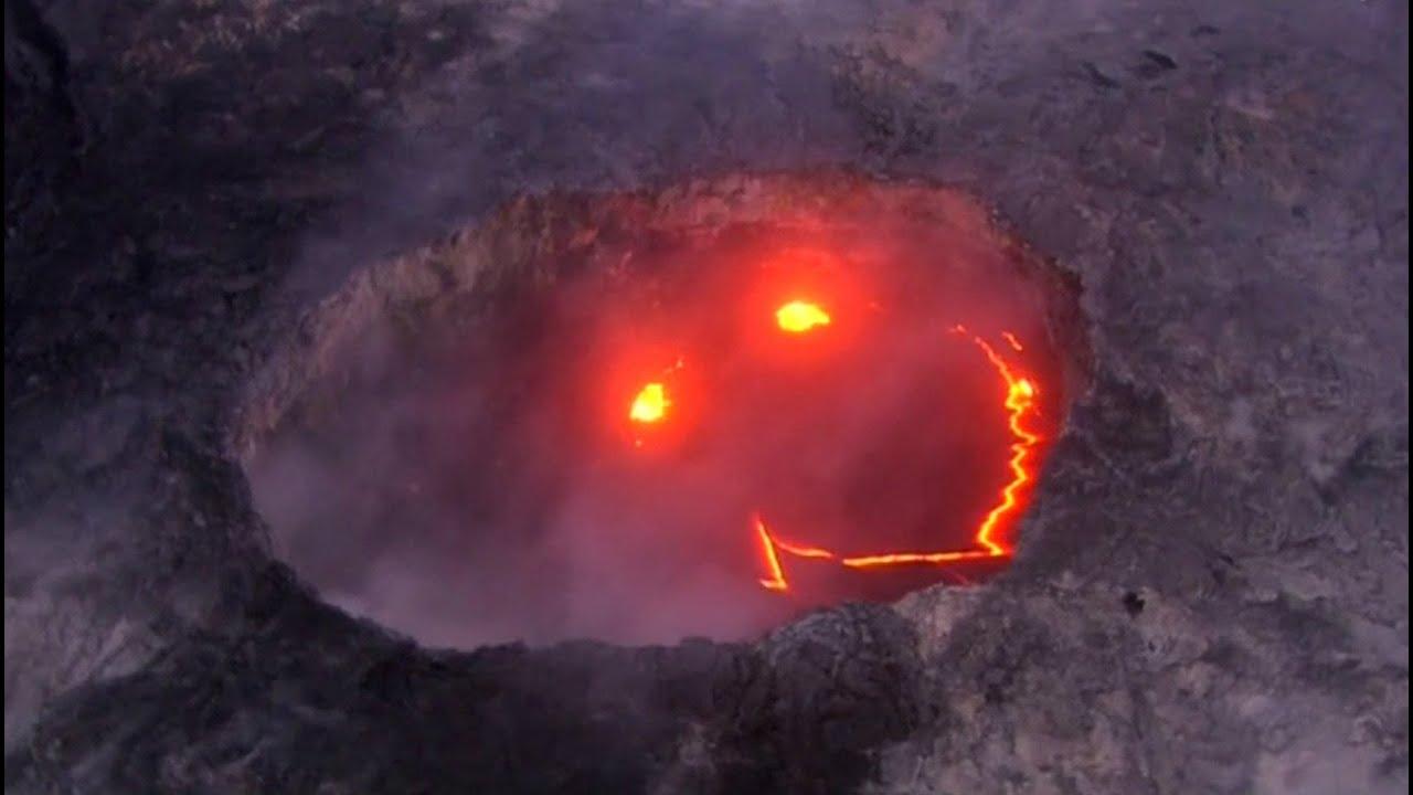 Lava forma rosto 'sorridente' em vulcão ativo no Havaí ...