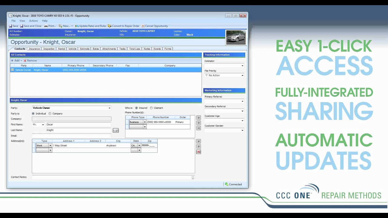 mitchell collision estimating guide online