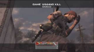 Modern Warfare 2 Game Winning Knife Throws - Montage - PS3