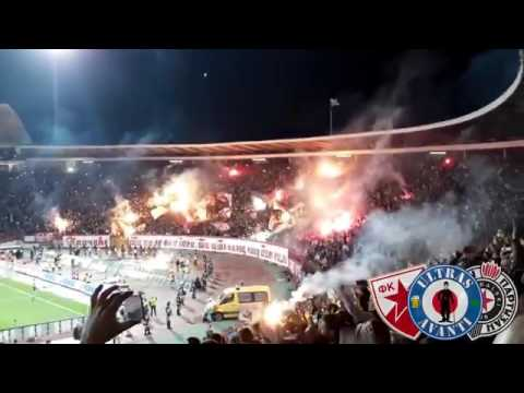 Belgrade Derby Crvena Zvezda Partizan Delije Grobari Ultras Show 2017
