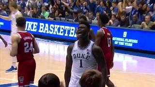 Zion Williamson Duke vs NC State - Highlights | 2.16.19 | 32 Pts, 3 Steals