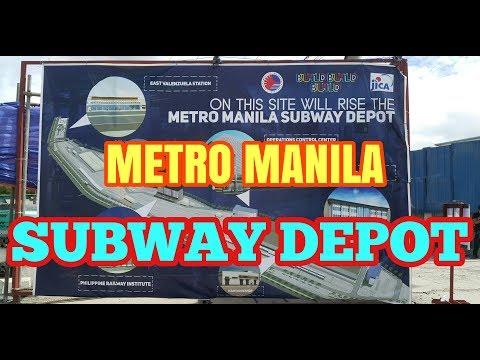 METRO MANILA SUBWAY DEPOT CONSTRUCTION | NAIMBITAHAN NG DOTr