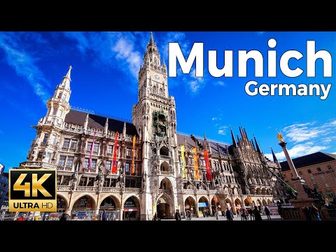 Munich, Germany Walking Tour (4k Ultra HD 60fps)