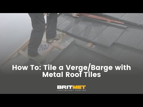 How to tile a roof with lightweight metal roof tiles: Barge Verge