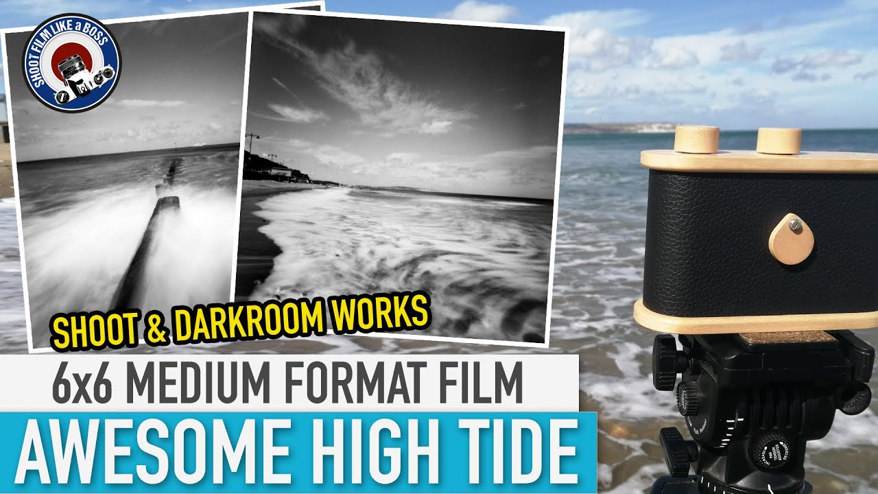 6X6 MEDIUM FORMAT PINHOLE CAMERA - AWESOME HIGH TIDE SCENES - SHOOT AND DARKROOM WORKS