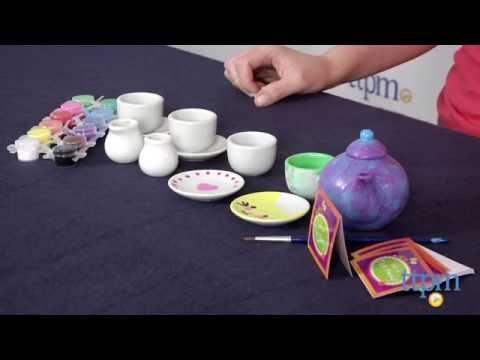 Paint Your Own Porcelain Tea Set from MindWare