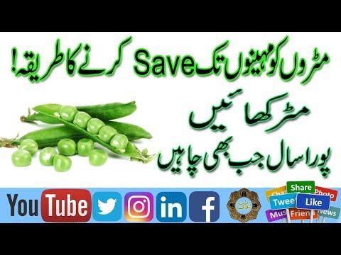 Matar ko Freez Karne ka Tarika | Mahinon Tak Marar ko save krna in Urdu | Matar Kachori Recipe |