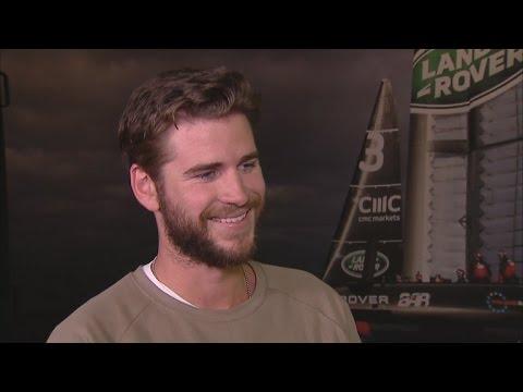 Exclusive Liam Hemsworth Addresses Miley Cyrus Wedding Rumors Everyones Happy