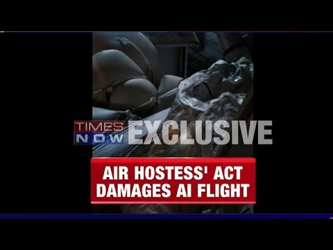 Thumbnail: Air India air hostess slips up, deploys evacuation chute upon landing