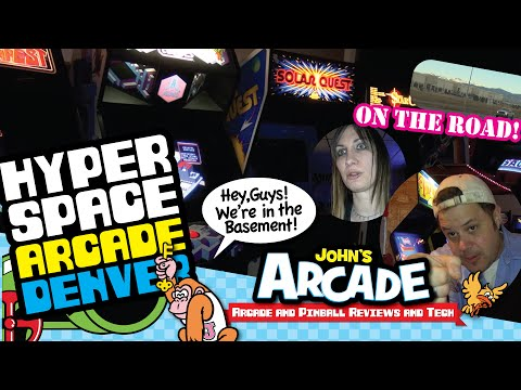 HYPERSPACE ARCADE Tour Lakewood, CO - Classic arcade goodness!
