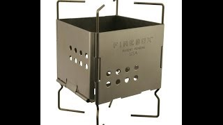 Folding Firebox Nano Ultra Light Wood Burning Backpacking Stove / Alcohol Burner Pot Stand