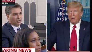 Trump falls on face when asked by Jim Acosta for proof of mail-in ballot fraud