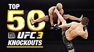 EA SPORTS UFC 3 | TOP 50 KNOCKOUTS - Community KO Video ep. 5