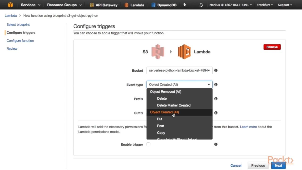 Learning AWS Lambda : Creating a Python Lambda Function | packtpub com