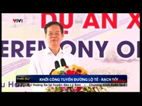 Thủ tướng Chính phủ Nguyễn Tấn Dũng phát lệnh khởi công dự án tuyến Lộ Tẻ-Rạch Sỏi