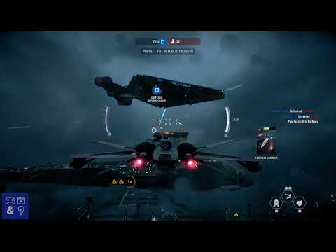 Star Wars Battlefront 2 Gameplay - Starfighter Assault gameplay on Kamino - Star Wars Dogfight