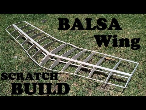 SCRATCH BUILDING AND COVERING A BALSA WOOD WING //ULTRA RC