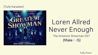 [Karaoke: Male key] Never Enough Inst.(The Greatest Showman OST)