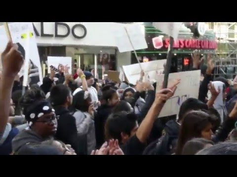San Francisco Youth Protest Extra Judicial Police Murders 2015-12-11