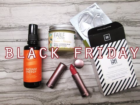 Black Friday / Cyber Monday 2016 Purchases // Natural, Green, Cruelty Free Products!!