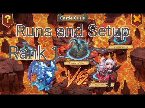 Archdemon Rank 1 Runs And Setup L Lava VS Dove L Castle Clash