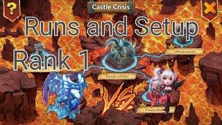 Archdemon Rank 1 Runs and Setup l Lava VS Dove l Castle Clash