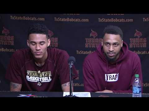 Texas State MBB Post Game Press Conference vs South Alabama - Players