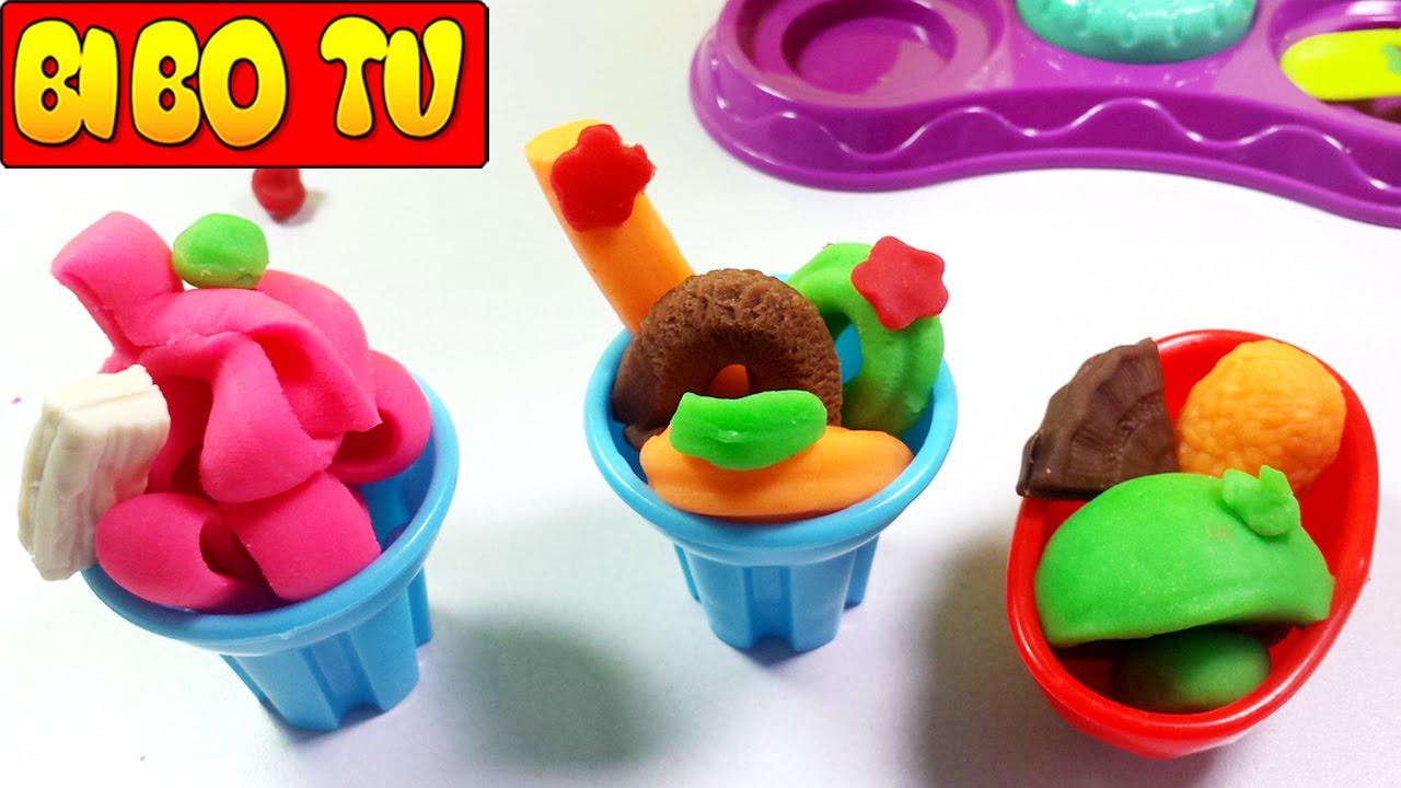 Chị Bí Đỏ Làm Kem Đồ Chơi Bằng Đất Nặn Play Doh & Bộ Trò Chơi Đất Sét 7 Màu Cho Trẻ Em [ Part 5 ]