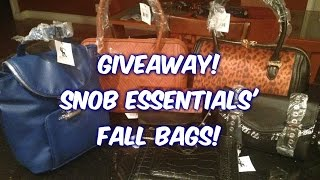 {GIVEAWAY ENDED} Snob Essentials' Fall 2014 Bags | CurlyKimmyStar Thumbnail