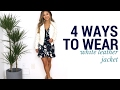 4 Ways to Wear The White Jacket | Oufit Ideas + How to Style + Lookbook | White Leather Jacket