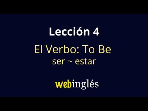 4 El Verbo To Be -Ser,Estar- Cómo Aprender Inglés