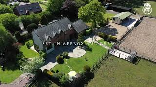 The Poplars - Equestrian Property aerial Video
