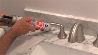 How to Apply Silicone Behind a Faucet (Back of a Sink)