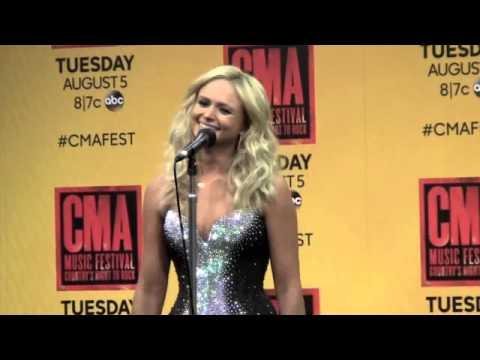 Miranda Lambert Backstage at CMA Music Festival 2014