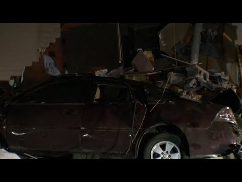 Car crashed through side of building in Dearborn Heights