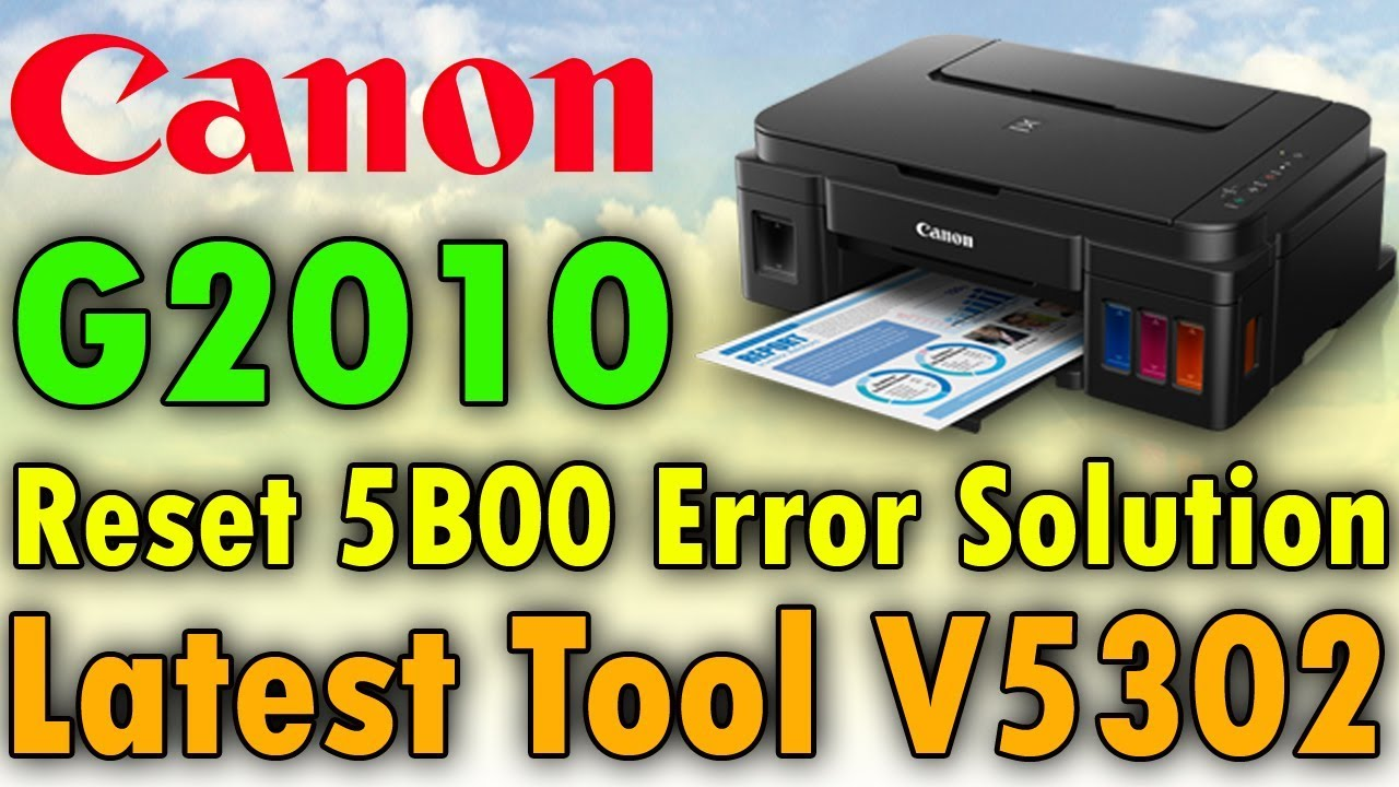 Canon G2010 Reset Using Latest Service Tool Of Canon V5302 | Last Version  Of Service Tool 2019