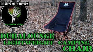 Most Comfortable Lightweight Camping Chair Ever! The Duralounge Foldable Chair