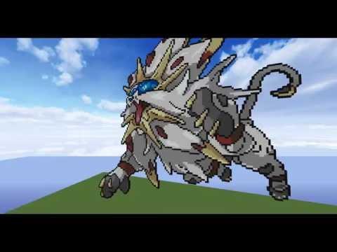 Pokemon Sun Solgaleo Pixelart In Minecraft Youtube