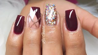 NOT POLISH SHORT SQUARE ACRYLIC NAILS