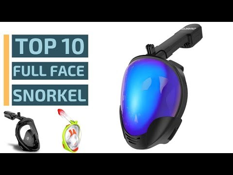 Top 10: Best Full Face Snorkeling Masks Of 2019 / 180° Panoramic View (Seaview)
