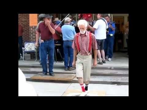 Old man shuffling