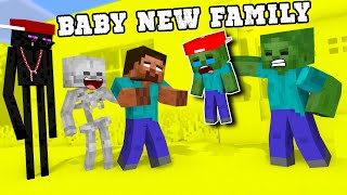 Poor Baby Zombie New Family! - Funny Monster School Animation