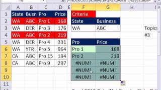 Excel Magic Trick 866: Four Lookup Values In VLOOKUP Formula? 6 Examples
