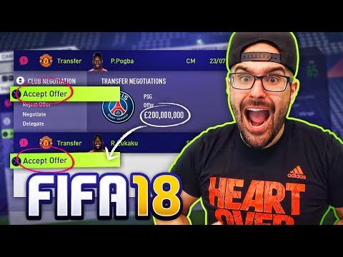 FIFA 18 ACCEPTING EVERY TRANSFER OFFER WITH MANCHESTER UNITED! Career Mode Challenge