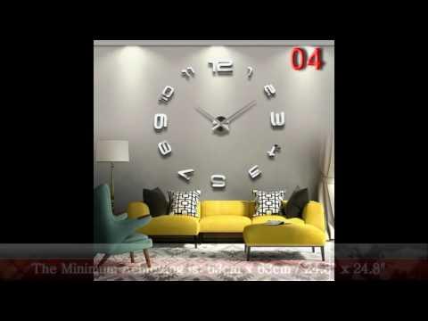 Fashion Large DIY Wall Clock Home Decor 3D Mirror Sticker Big Timer Art Watch