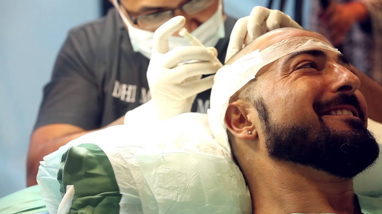 زراعة الشعر في البحرين DHI Hair Transplant in Bahrain - YouTube