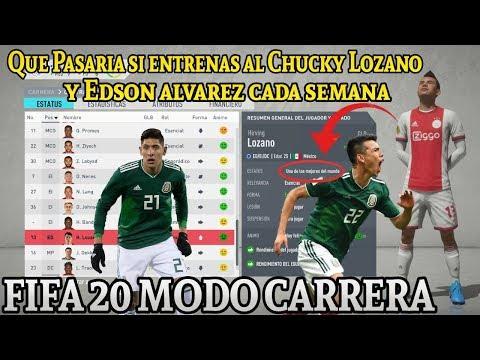 ¿Cual Es El Máximo Potencial De Lozano Y Edson Álvarez? Si Los Entrenas - Modo Carrera FIFA 20