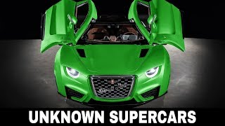 9 Unknown Supercars that Want to Be As Popular As Bugatti and Koenigsegg