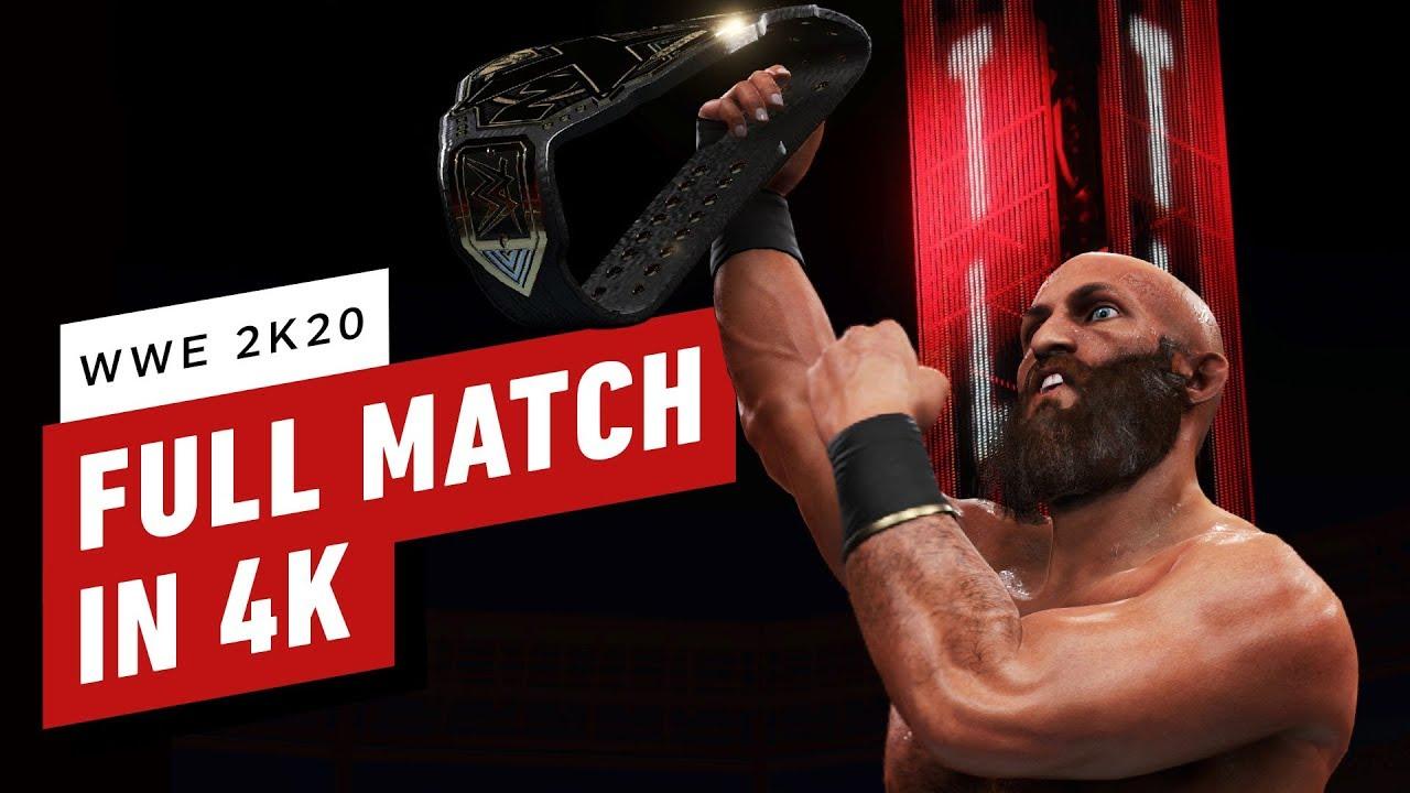 WWE 2K20: una partida completa en 4K + vídeo