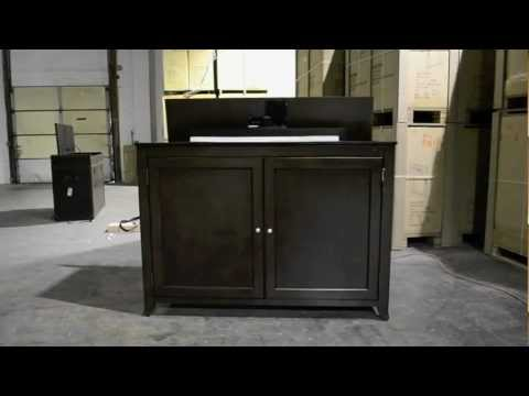 Monterey Espresso TV Lift Cabinet for flat screen TV's up to 55 ...